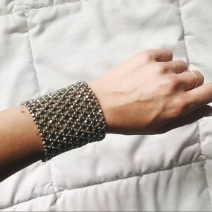 Silver Stretch Cuff